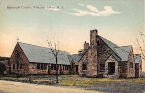 Pompton Lakes New Jersey Episcopal Church Street View Antique Postcard K104328