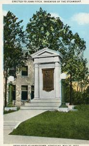 KY - Bardstown, Monument to John Fitch, Inventor of the Steamboat