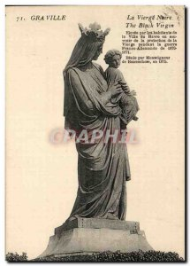 Old Postcard Graville Virgin Neire The Black Virgin