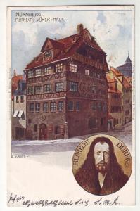 P367 JL, 1908 postcard a. durer nurnberg haus germany stamp