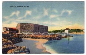 Old Fort Popham, Maine