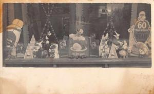 Decker's Grocery Store Window Display Easter Holiday Real Photo Postcard J76070