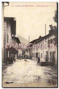 Postcard Old St Jean En Royans Faubourg Des Brous
