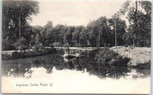 Sandusky, Ohio Postcard Lagoons, CEDAR POINT Amusement Park c1900s UNUSED
