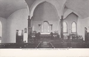 TELFORD , Pennsylvania , 00-10s : Interior View of St Paul's Lutheran Church