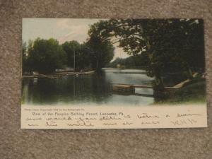 View of the Peoples Bathing Resort, Lancaster, Pa., R.P.O. used Vintage card