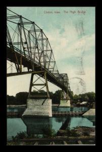 CLINTON IOWA HIGH BRIDGE