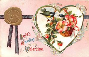 Valentines Day Post Card Old Vintage Antique Postcard postal used unknown