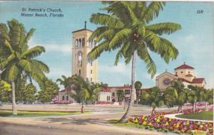 Florida Miami Beach St Patrick's Catholic Church 1955