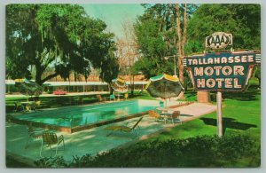 Tallahassee Florida~Tallahassee Motor Hotel~Neon Sign~50s Car~Pool~1960s