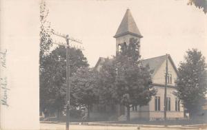 Memphis Michigan Church Real Photo Antique Postcard K40363