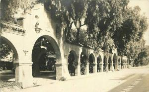1920s Riverside California Mission Inn Arches RPPC Photo Postcard 3052