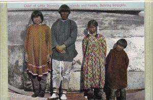 Alaska Behring Straights Chief Of Little Diomede Islands and Family