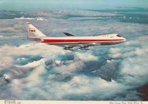 TWA 747 Jet Airplane , 1960-70s