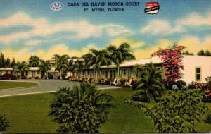 Florida Fort Myers Casa Del Haven Motor Court Curteich