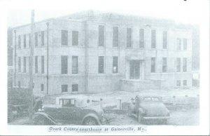 Vtg Postkarte RPPC 1940s Gainesville MO Missouri Ozark Grafschaft Court Haus Unp