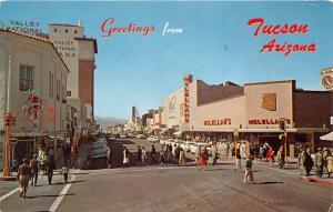 Tucson Arizona~Congress Street West~McLellan~Skaggs~People Cross~1965 Pc