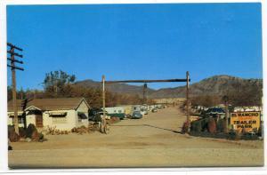 El Rancho Grande Trailer Park Highway 80 El Paso Texas postcard