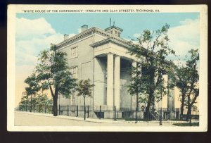 Richmond, Virginia/VA Postcard, White House Of The Confederacy, 12th & Clay Sts
