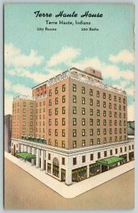 Terre Haute Indiana~Terre Haute House~250 Rooms and Baths~1940s Linen