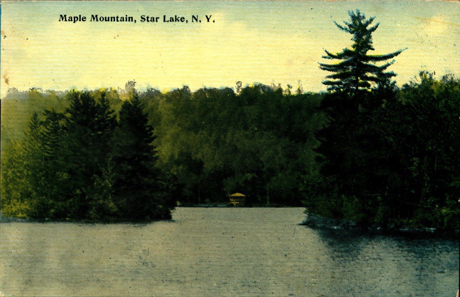 Star Lake Ny >> Star Lake Ny St Lawrence County Maple Mountain Vintage Postcard