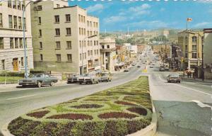 La Rue King Ouest, Vue Vers l'Est, Sherbrooke, Quebec, Canada, 50-60s