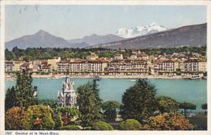 Switzerland Geneve et la Mont-Blanc 1913