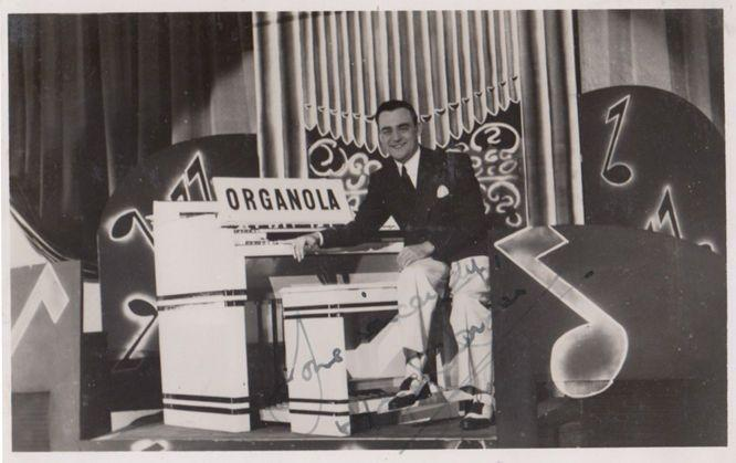 Harry Farmer WW2 Organist at Organola Hand Signed RPC Photo Postcard