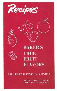 Bakers True Fruit Flavors Recipes Baker Extract Co Leaflet