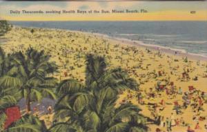 Florida MIami Beach Thousands Seeking Health Rays From The Sun 1942