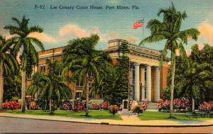 Florida Fort Myers Lee County Court House 1945 Curteich