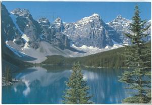 Canada, Moraine Lake and the Valley of the Ten Peaks, 1991 used Postcard