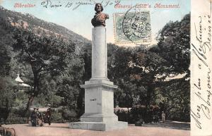 Gibraltar General Eliott's Monument statue 1907