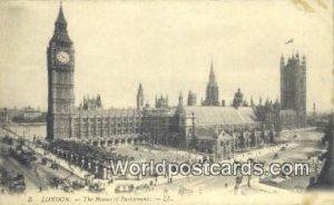 Houses of Parliament London England, United Kingdon of Great Britain Unused