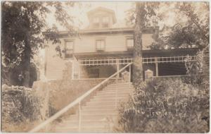 Indiana In Real Photo RPPC Postcard c20s NEW TRENTON LENMARY CAMP Home Cottage