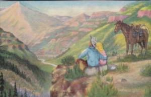 Dreaming By Cowboy Artist L H Dude Larsen