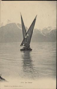Lac Leman veil boat navigation