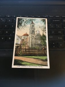 Vintage postcard - Church at Aguas Caliente , Mexico