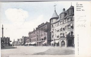 RACINE , Wisconsin , PU-1907 ; East Side Monument Square