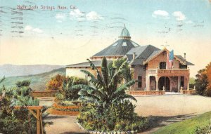 NAPA SODA SPRINGS Napa, California 1908 Vintage Postcard