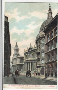 London; St Pauls Cathedral & Cannon St PPC 1906 PMK, To Miss Linehan, Park Lane