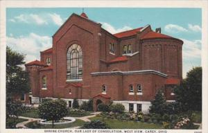 Ohio Carey Shrine Church Our Lady Of Consolation West View 1936
