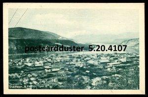4107 - DAWSON Yukon Postcard 1920s Birds Eye View by Cribb's Drugstore
