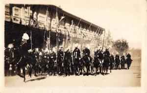 La Paz Bolivia Bolivian Cavalry Parade Real Photo Antique Postcard K107372