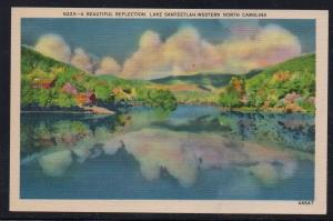 North Carolina colour PC Beautiful  Reflection Lake Santeetlah, unused