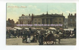 aj0385 - North'shire - An Early Market at the Market Place, in Newark - Postcard