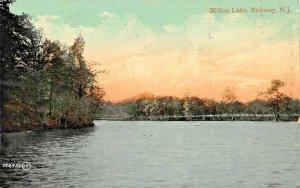 RAHWAY NJ~MILTON LAKE~VALENTINE PUBL POSTCARD