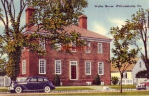 WYTHE HOUSE. WILLIAMSBURG, VA