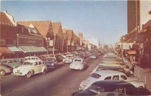 Autos Busy 3rd Avenue Postcard San Mateo California Roberts 12863