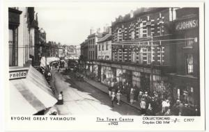 Norfolk; Great Yarmouth, The Town Centre, c 1922 Repro RP PPC By Pamlin, C1977